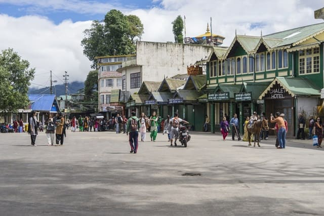 Tourist attraction in Darjeeling city: Darjeeling Chowrasta