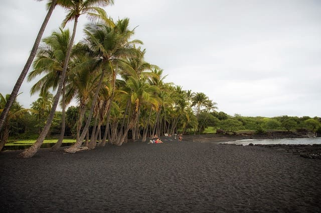 Punalu'u Black Sand Beaches Hawaii
