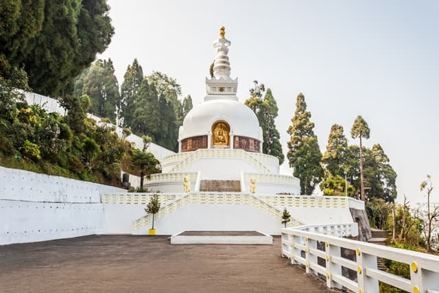 Peace Pagoda And Japanese Temple In Another Interesting Place To Visit In Darjeeling