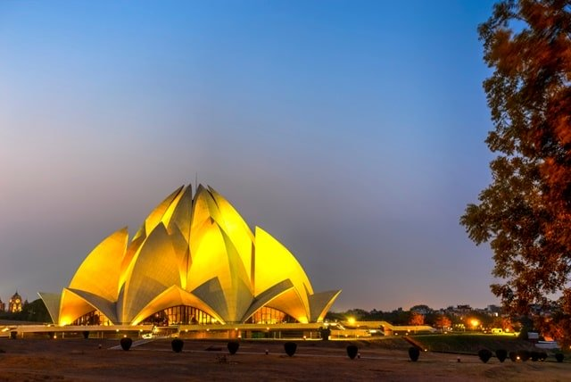 Lotus Temple, Delhi Modern Monuments Of India