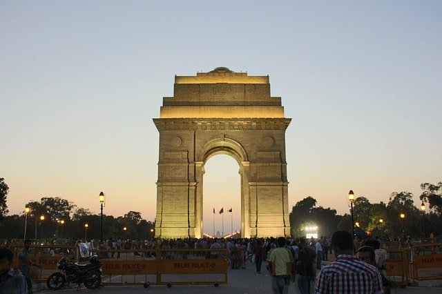 Inscriptions And Names On The India Gate Delhi