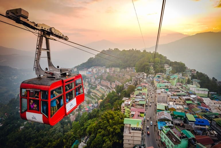 Paragliding, Ropeway In Gangtok