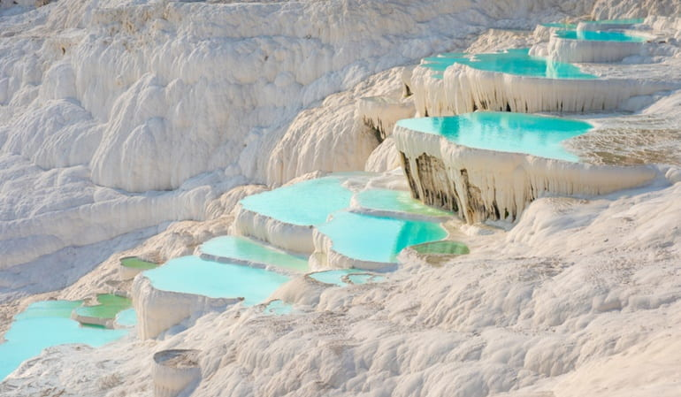Popular Places For Hot Water Springs In World: Pamukkale Turkey